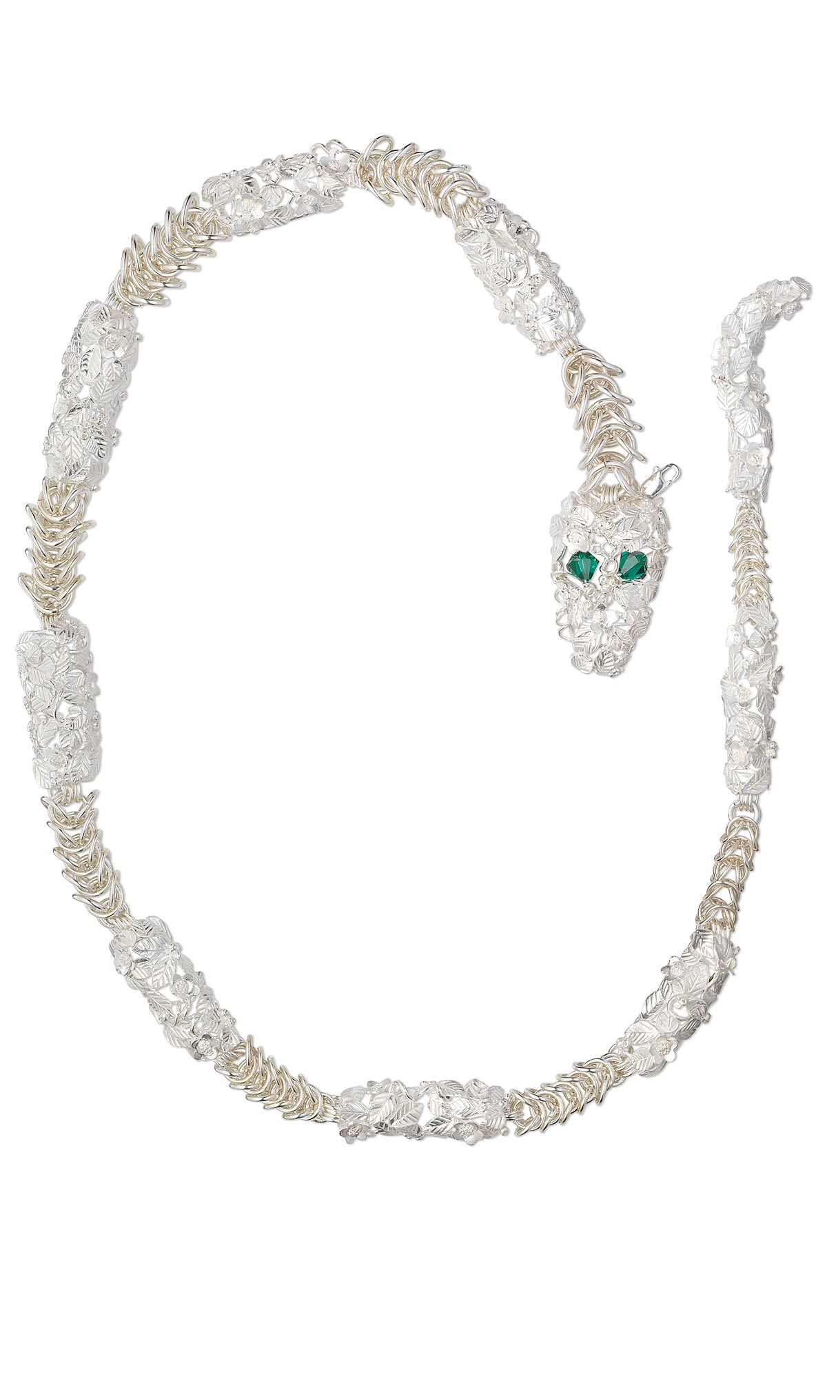 Jewelry Design Single Strand Snake Necklace With