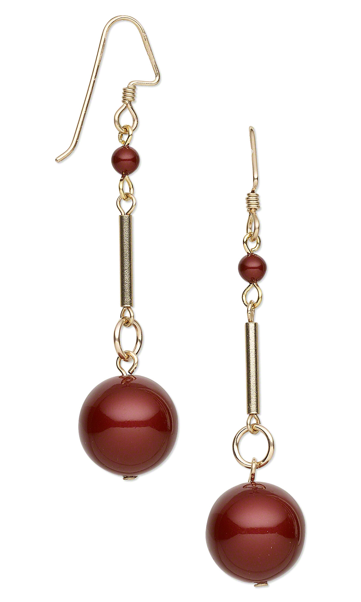 Jewelry Design Earrings With Swarovski Crystal Pearls