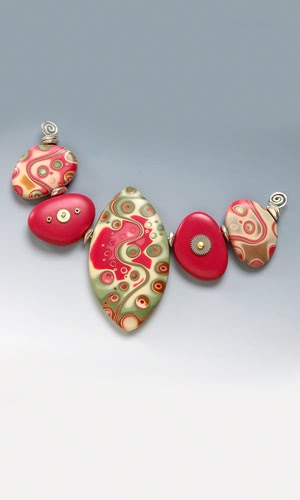 Fire Made Of Clay : Jewelry design beads made of polymer clay fire