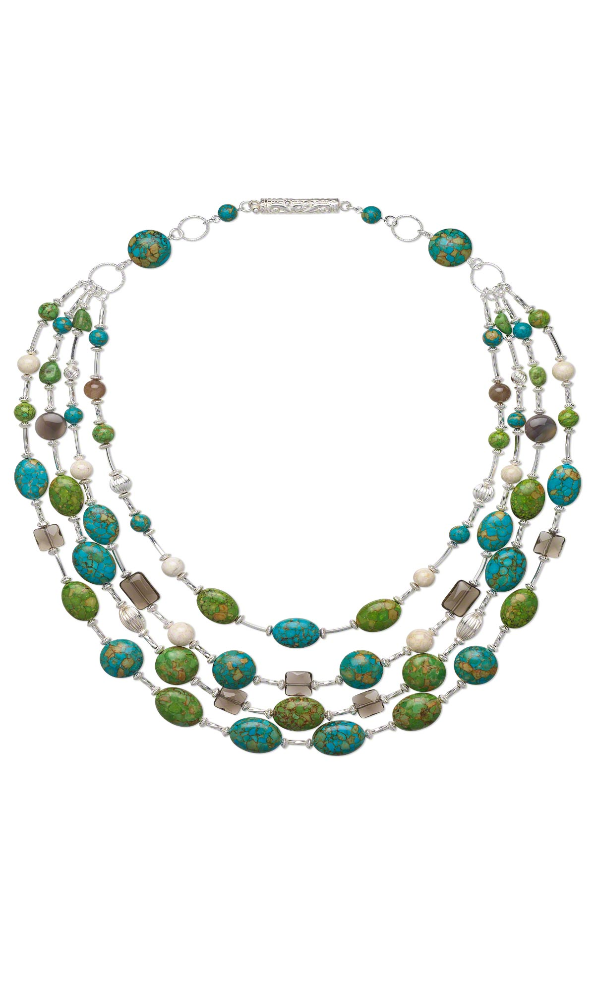 jewelry design multi strand necklace with mosaic