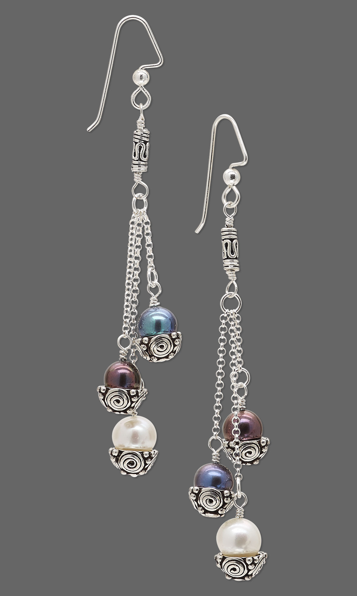 jewelry design earrings with cultured freshwater pearls
