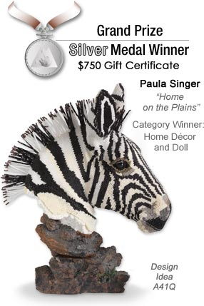 Design Idea A41Q Zebra Head Figurine