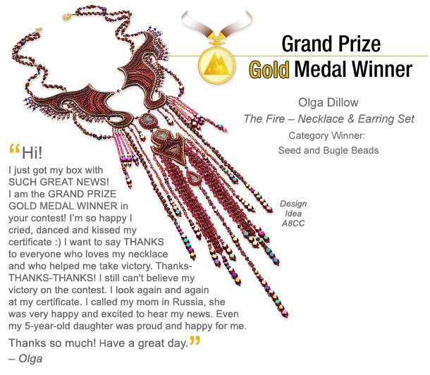 Grand Prize Gold Medal Winner: Olga Dillow