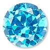 Zircon Blue Cubic Zirconia Gemstone Beads and Components
