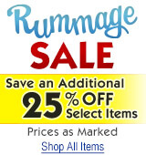 Rummage Sale - Extra 25% Off Select Items!