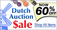 Dutch Auction Sale - Now 60% Off