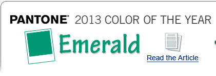 Pantone 2013 Color of the Year - Emerald - Read