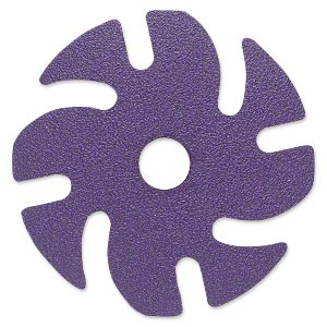 Abrasive disc, 3M™ Ninja™, plastic and ceramic, purple, 120 grit, 3-inch replacement disc for Jooltool™. Sold per pkg of 6.