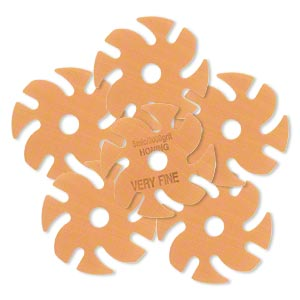Abrasive disc, 3M™ Trizact™, plastic, orange, 3000 grit, 3-inch replacement disc for Jooltool™. Sold per pkg of 6.