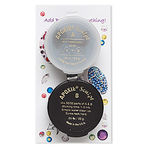 Adhesive, Apoxie® Sculpt, epoxy and polymer resin, silver-grey. Sold per 1/10 pound pkg.