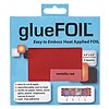 Adhesive foil, glueFOIL™, aluminum and glue, metallic red, 4x4-inch square. Sold per pkg of 5 pieces.