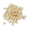 Bead, 14Kt gold-filled, 3mm smooth bicone. Sold per pkg of 100.