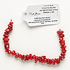 Bead, Blue Moon Beads®, bamboo coral (dyed), medium chip. Sold per 7-inch strand.