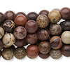 Bead, Crazy Horse™ stone (coated), 8mm round, C grade, Mohs hardness 3-1/2 to 4. Sold per pkg of (10) 16-inch strands.