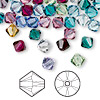 Bead, Swarovski crystal, Crystal Passions®, Birthstone, 6mm Xilion bicone (5328). Sold per pkg of 144 (1 gross).
