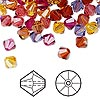 Bead, Swarovski crystal, Crystal Passions®, Heat, 6mm Xilion bicone (5328) and faceted bicone (5301). Sold per pkg of 24.
