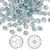 Bead, Swarovski crystal, Crystal Passions®, Indian sapphire, 4mm faceted round (5000). Sold per pkg of 144 (1 gross).