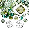 Bead, Swarovski crystal, Crystal Passions®, Ireland, 6mm Xilion bicone (5328). Sold per pkg of 144 (1 gross).