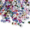 Bead, Swarovski crystal, Crystal Passions®, Rock Star, 4mm Xilion bicone (5328). Sold per pkg of 48.