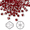 Bead, Swarovski crystal, Crystal Passions®, Siam, 4mm Xilion bicone (5328). Sold per pkg of 144 (1 gross).