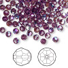 Bead, Swarovski crystal, Crystal Passions®, amethyst AB, 4mm faceted round (5000). Sold per pkg of 144 (1 gross).