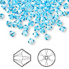 Bead, Swarovski crystal, Crystal Passions®, aquamarine, 4mm Xilion bicone (5328). Sold per pkg of 144 (1 gross).