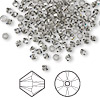 Bead, Swarovski crystal, Crystal Passions®, black diamond, 3mm Xilion bicone (5328). Sold per pkg of 144 (1 gross).