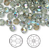 Bead, Swarovski crystal, Crystal Passions®, black diamond AB, 6mm faceted round (5000). Sold per pkg of 144 (1 gross).
