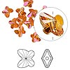 Bead, Swarovski crystal, Crystal Passions®, crystal astral pink, 6x5mm faceted butterfly (5754). Sold per pkg of 12.