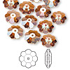 Bead, Swarovski crystal, Crystal Passions®, crystal copper, 10x3.5mm faceted marguerite lochrose flower (3700). Sold per pkg of 12.