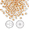 Bead, Swarovski crystal, Crystal Passions®, crystal copper, 3mm faceted round (5000). Sold per pkg of 144 (1 gross).
