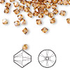 Bead, Swarovski crystal, Crystal Passions®, crystal copper, 4mm Xilion bicone (5328). Sold per pkg of 48.