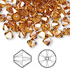 Bead, Swarovski crystal, Crystal Passions®, crystal copper, 6mm Xilion bicone (5328). Sold per pkg of 144 (1 gross).