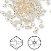 Bead, Swarovski crystal, Crystal Passions®, crystal golden shadow, 3mm Xilion bicone (5328). Sold per pkg of 144 (1 gross).