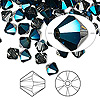 Bead, Swarovski crystal, Crystal Passions®, crystal metallic blue, 6mm Xilion bicone (5328). Sold per pkg of 144 (1 gross).
