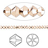 Bead, Swarovski crystal, Crystal Passions®, crystal rose gold 2X, 3mm Xilion bicone (5328). Sold per pkg of 144 (1 gross).
