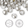 Bead, Swarovski crystal, Crystal Passions®, crystal satin, 8mm faceted round (5000). Sold per pkg of 144 (1 gross).