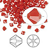 Bead, Swarovski crystal, Crystal Passions®, dark red coral, 4mm Xilion bicone (5328). Sold per pkg of 144 (1 gross).