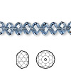 Bead, Swarovski crystal, Crystal Passions®, denim blue, 8x6mm faceted rondelle (5040). Sold per pkg of 144 (1 gross).
