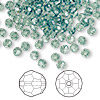 Bead, Swarovski crystal, Crystal Passions®, erinite, 4mm faceted round (5000). Sold per pkg of 144 (1 gross).