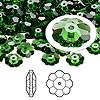 Bead, Swarovski crystal, Crystal Passions®, fern green, 8x3mm faceted marguerite lochrose flower (3700). Sold per pkg of 12.