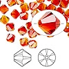 Bead, Swarovski crystal, Crystal Passions®, fireopal, 6mm Xilion bicone (5328). Sold per pkg of 144 (1 gross).