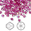 Bead, Swarovski crystal, Crystal Passions®, fuchsia AB, 4mm Xilion bicone (5328). Sold per pkg of 144 (1 gross).