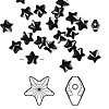 Bead, Swarovski crystal, Crystal Passions®, jet, 8x8mm faceted star (5714). Sold per pkg of 8.