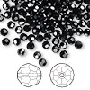 Bead, Swarovski crystal, Crystal Passions®, jet hematite, 4mm faceted round (5000). Sold per pkg of 144 (1 gross).