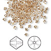 Bead, Swarovski crystal, Crystal Passions®, light Colorado topaz, 3mm Xilion bicone (5328). Sold per pkg of 48.