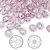 Bead, Swarovski crystal, Crystal Passions®, light amethyst, 6mm faceted round (5000). Sold per pkg of 144 (1 gross).