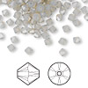 Bead, Swarovski crystal, Crystal Passions®, light grey opal, 4mm Xilion bicone (5328). Sold per pkg of 144 (1 gross).
