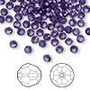 Bead, Swarovski crystal, Crystal Passions®, purple velvet, 4mm faceted round (5000). Sold per pkg of 12.