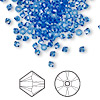 Bead, Swarovski crystal, Crystal Passions®, sapphire, 3mm Xilion bicone (5328). Sold per pkg of 48.